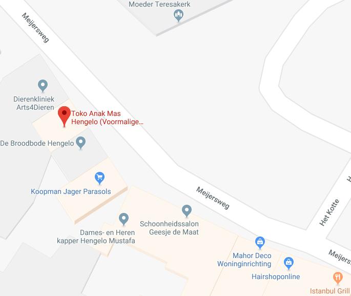 Toko Hengelo Anak Mas Indonesische toko